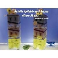 BOTELLA  APILABLE CUATRO CARAS TORRE DE HÉRCULES