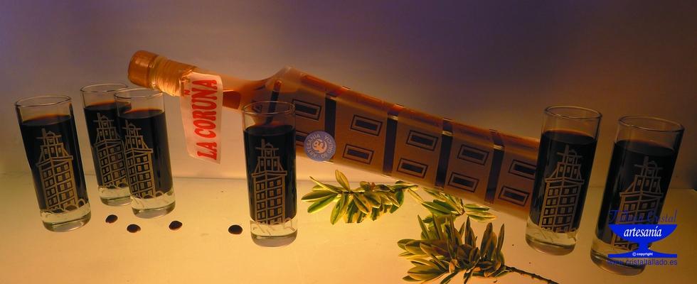 Botella Chupito Torre de Hercules