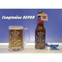 JUEGO  CUMPLEAÑOS JARRA + CERVEZA DEPOR