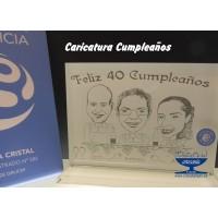 CARICATURA  CUMPLEAÑOS CAMAREROS